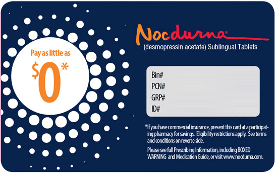For Eligible Patients With Commercial Insurance Only. Pay no more than $40 for your nodcurna prescription
