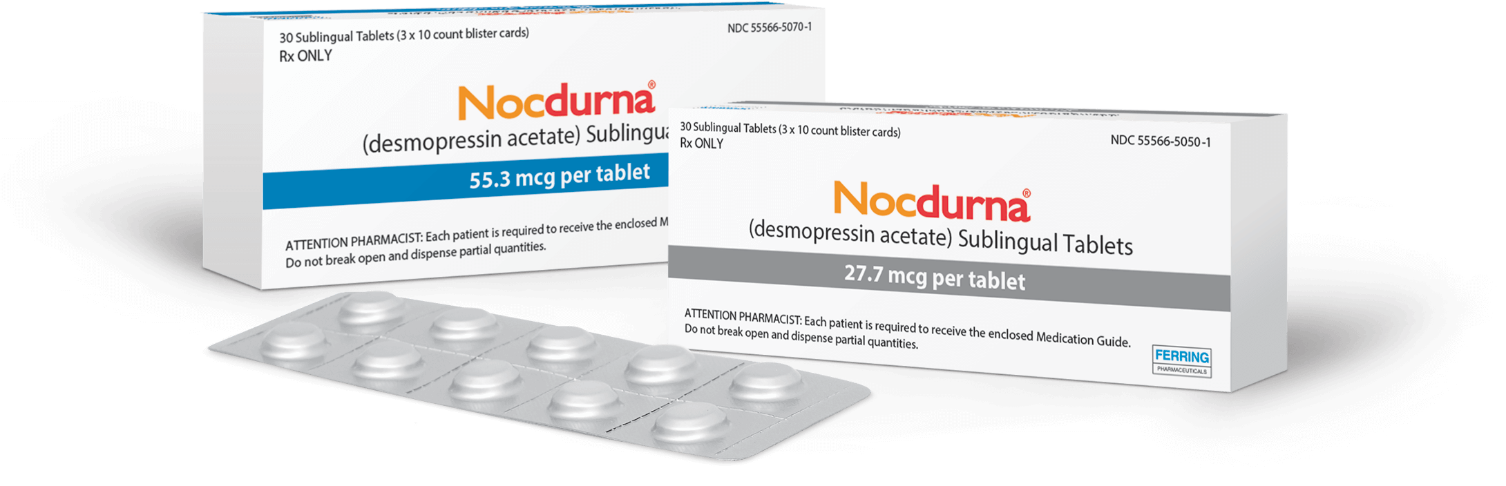 NOCDURNA (desmopressin acetate) sublingual tablets for nocturnal polyuria